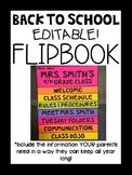 Back to School Editable Flipbook