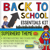 Meet the Teacher Editable Forms and Resources for Back to School Open House