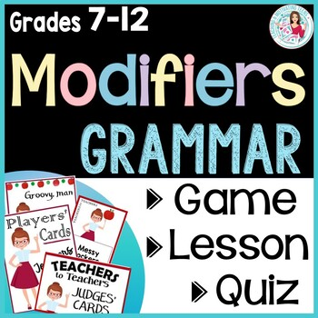 Back to School Editable Game and Grammar Mini-Lesson, Middle & High School ELA