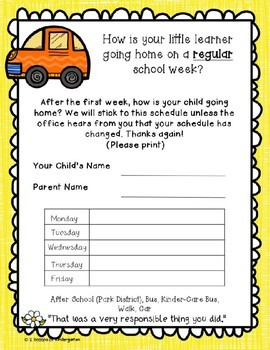 Back to School (Editable) Parent Forms ~ Growth Mindset Theme