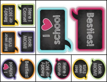 Back to School Photobooth Banner and Props Editable