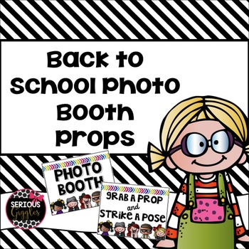 Back to School Editable Photobooth Banner and Props