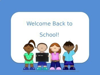 Back to School Editable Power Point (Cozy Blue)