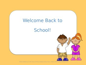 Back to School Editable Power Point Sign (Warm Yellow)
