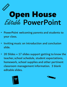 Back to School Editable PowerPoint