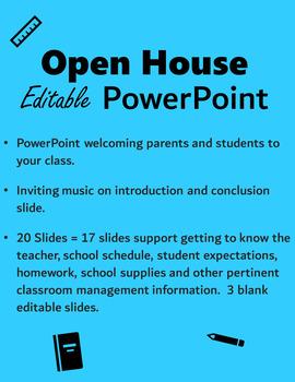 Open House PowerPoint - Editable