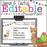 Back to School Editable PowerPoint {Cactus & Llama}