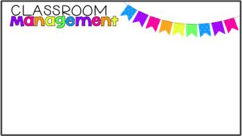 Back to School Editable PowerPoint {Neon Bunting}
