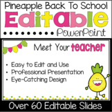 Back to School Editable PowerPoint {Pineapple Theme}