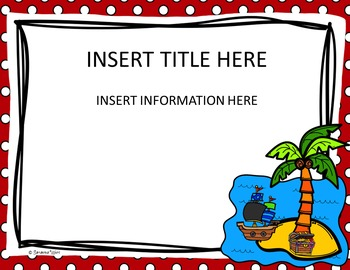 Back to School Editable PowerPoint {Pirate Theme}
