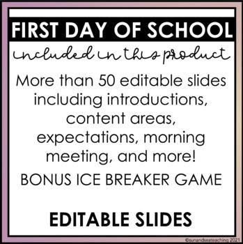 Back to School Editable Presentation-Google Slides