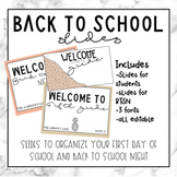 Back to School Editable Slideshow
