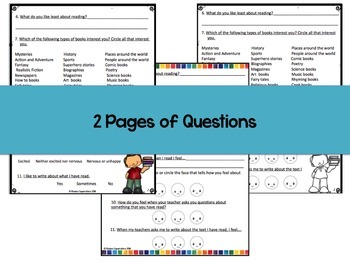 Back to School Editable Student Reading Survey