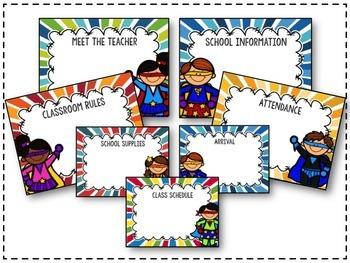 Back to School Editable Superhero Presentation