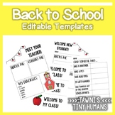 Back to School Editable Templates