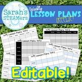 Back to School Editable Weekly Lesson Planner FREEBIE