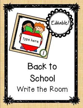 Back to School Editable Write the Room