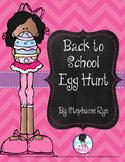Back to School Egg Hunt Activity