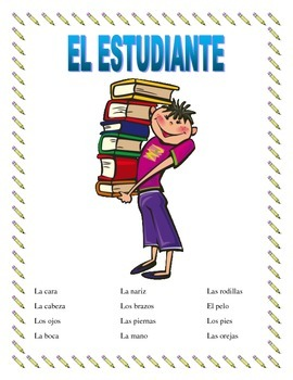 """El Cuerpo- Label""""El Estudiante""""- Body Parts- Spanish I"""