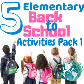 Back to School: Elementary No Prep Activities Pack 1