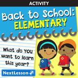 Back to School: Elementary School Unit