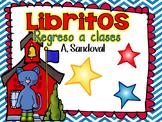 Back to School Emergent Books in Spanish libritos de regreso a la escuela