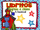 Back to School Emergent Books in Spanish libritos de regreso a la escuela