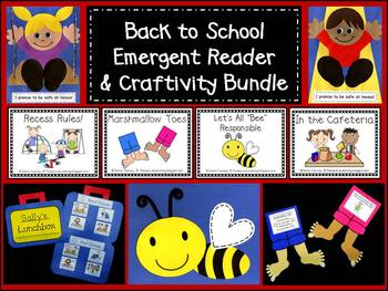 Back to School Emergent Reader & Craftivity Bundle