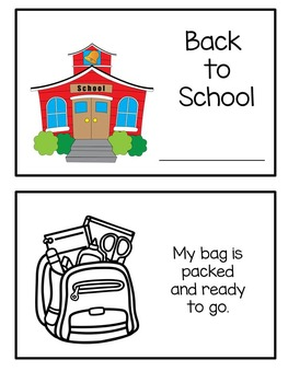 Back to School Emergent Reader