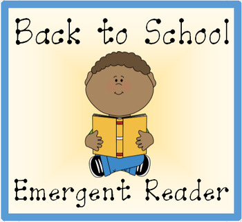 Back to School Emergent Reader Mini Book