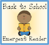 Back to School Emergent Reader Mini Book
