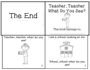 "Back-to-School Emergent Reader Mini-Book ""Teacher, Teacher What Do You See?"""