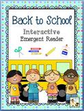 Back to School Interactive Emergent Reader