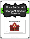 Back to School Emergent Reader and Digital Big Book for Pr