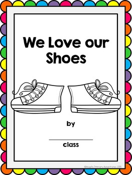 """Back to School Emergent Reader featuring colors:  """"I Love my Shoes"""""""