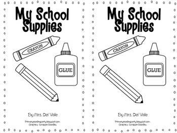 "Back to School Emergent Readers: ""Back to School"" & ""My School Supplies"""