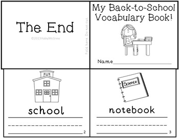 Back to School Emergent Readers Mini-books Set Pack of 5