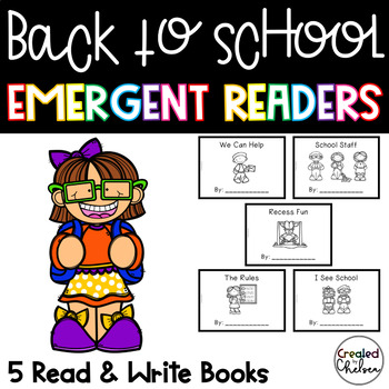 Back to School Emergent Readers {Set of 5 Read and Write Books}