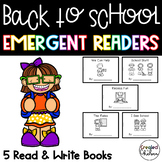 Back to School Emergent Readers {5 Read and Write Books}