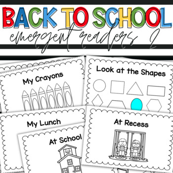 Back-to-School Emergent Readers Vol2
