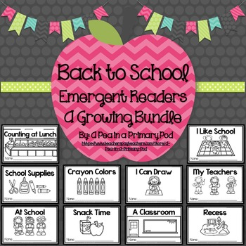Back to School Emergent Readers and Response Activities (Growing Bundle)
