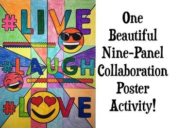 Back to School Emoji Collaborative Poster