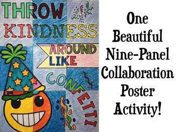 Back to School Emoji Collaborative Poster: Kindness