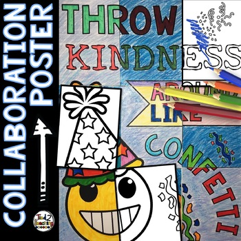 Back to School Emoji Collaborative Poster: Kindness