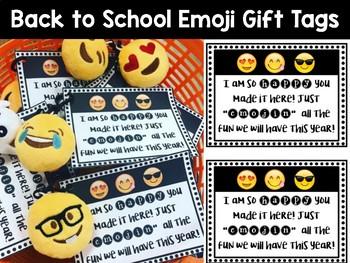 Back to School Emoji Gift Tag