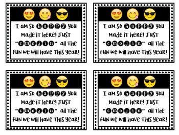 Back to School Emoji Gift Tag - Editable