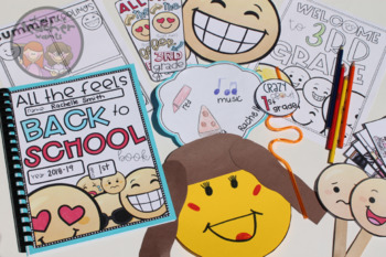 Back to School Emoji Pack (Writing, Games, Book, and Bulletin Board)