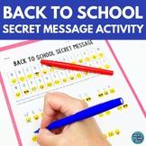 Back to School Activity Emoji Secret Message