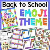 Emoji Theme - Back to School Decor, Activities, and More