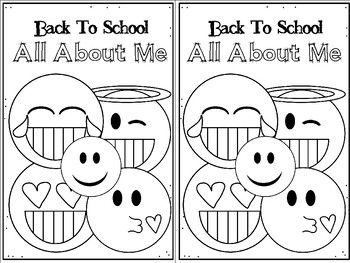 Back to School Emoji Themed ALL ABOUT ME Book